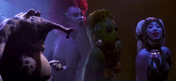 scena modificata nel palazzo di jabba in star wars