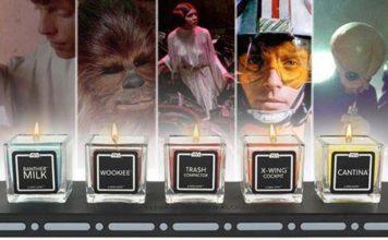 candele profumate con gli odori di star wars