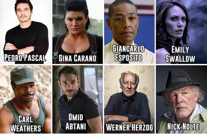 cast della serie live action the mandalorian