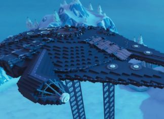 ricreato il millennium falcon di star wars su fortnite