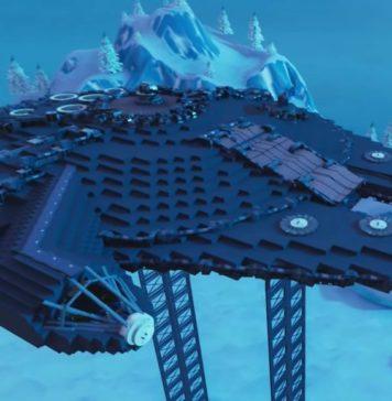 ricreato il millennium falcon di star wars su fortnite