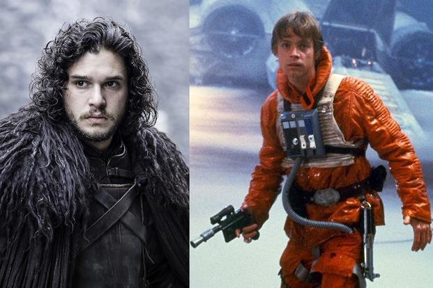 Luke Skywalker in Star Wars e Jon Snow in Game of Thrones