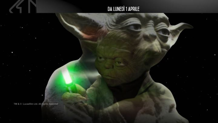 saga di star wars in tv su italia uno