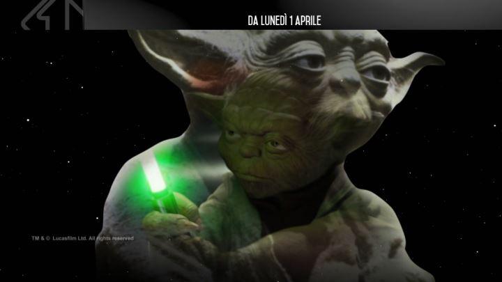 saga di star wars in tv su italia uno