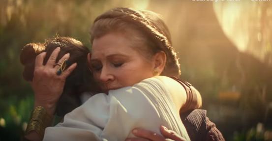 analisi del trailer di episodio ix, in cui vediamo Leia e Rey