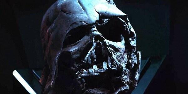 maschera darth vader distrutta kylo ren reliquia
