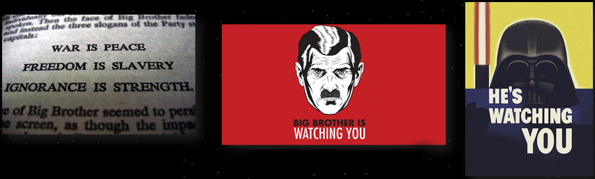 star wars fantascienza orwell 1984 grande fratello darth vader parodia