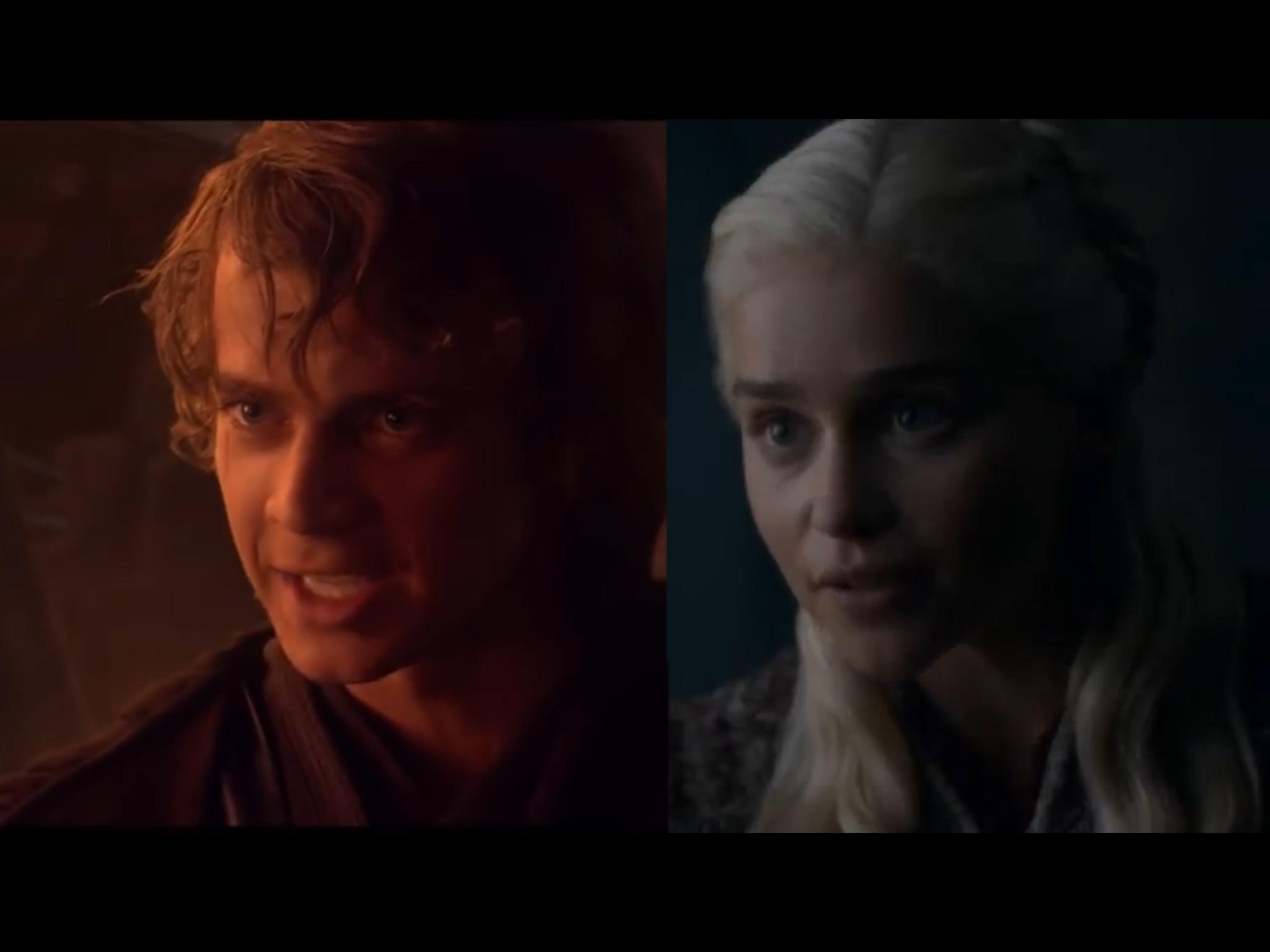 Daenerys di Game of Thrones e Anakin di Star Wars