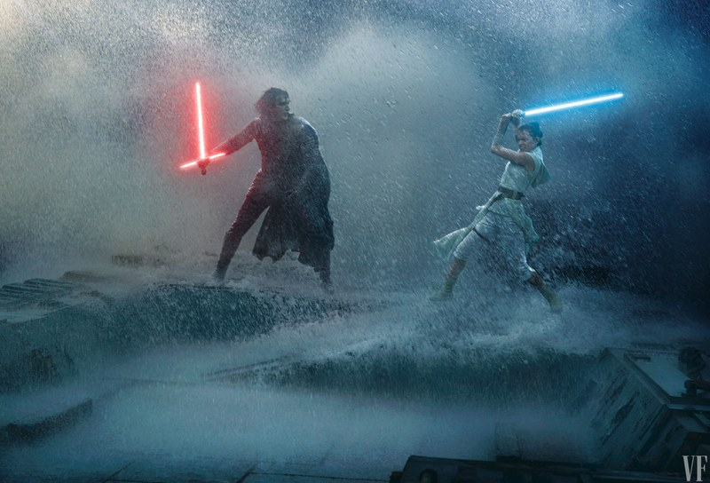 rey e kylo ren foto set vf artwork