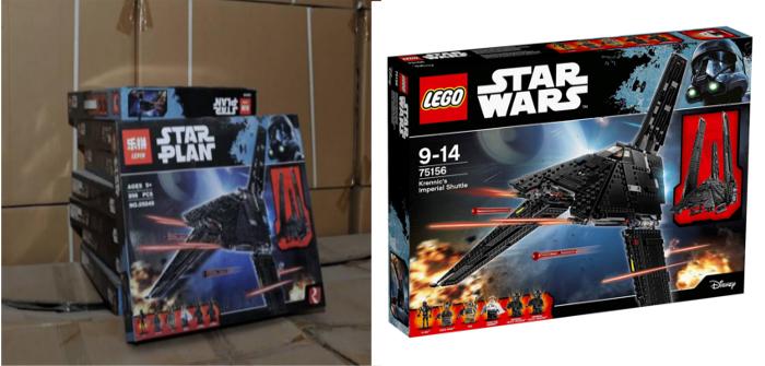 comparazione set lepin lego fake originale shuttle imperiale krennic