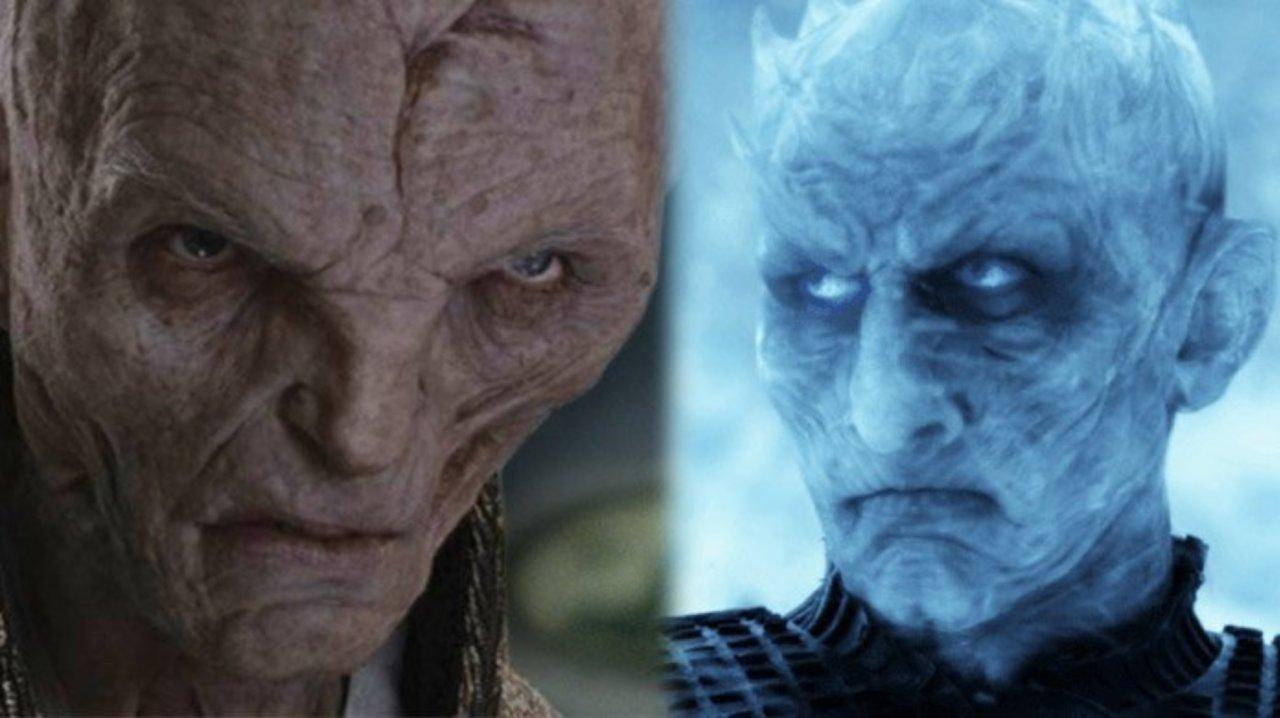 Il villain di Game of Thrones, il re della notte, e il villain di Star Wars, Snoke
