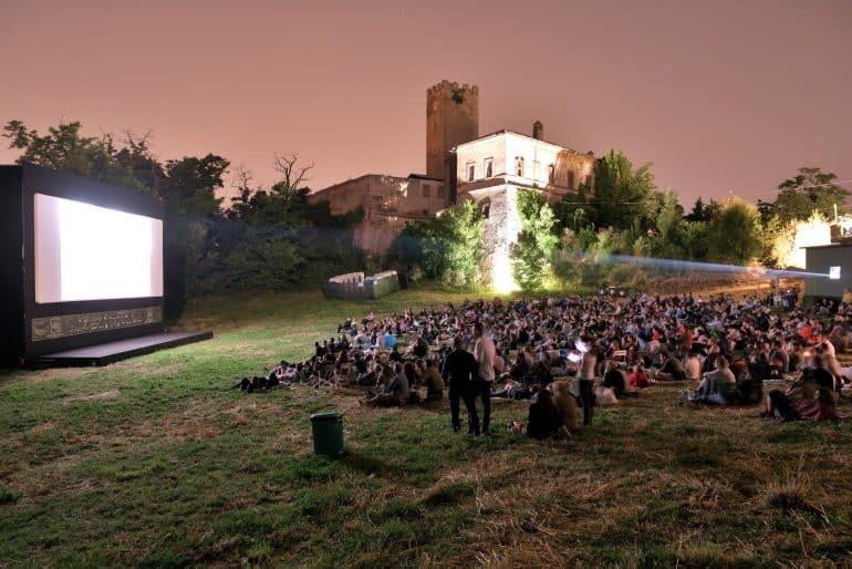L'arena a San Cosimato del Cinema America