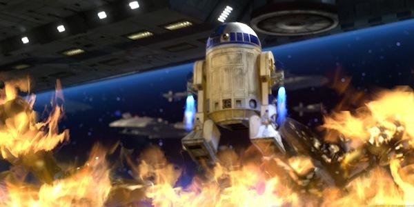 R2-D2 in azione ne La vendetta dei Sith