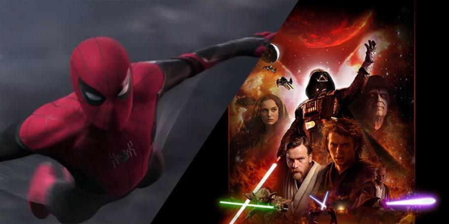 tom holland in Spider-Man: Far From Home e scena tagliata di Star Wars