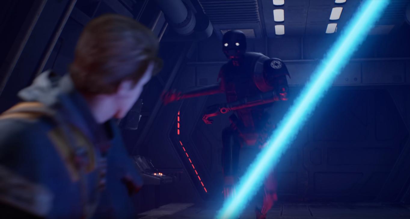 cal affronta droide sicurezza imperiale serie kx finale jedi: fallen order gameplay