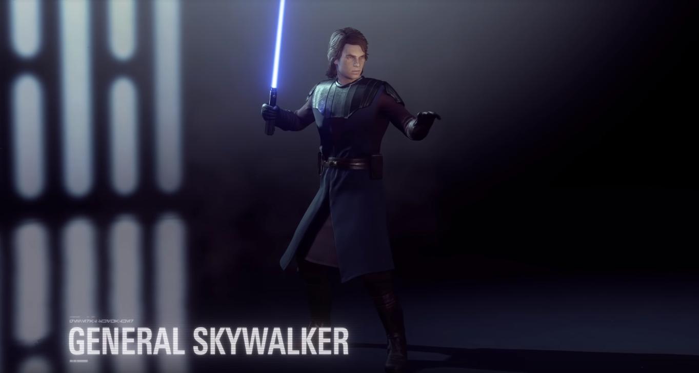 nuova skin anakin skywalker battlefront II general skywalker