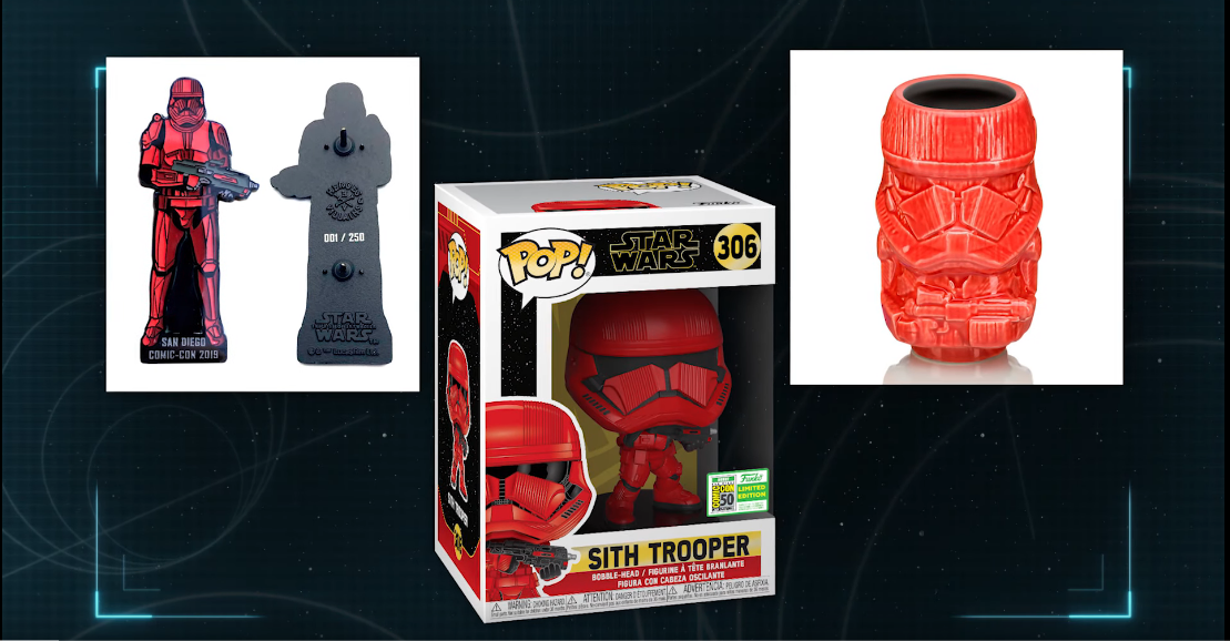 Il merchandise dei Sith Trooper