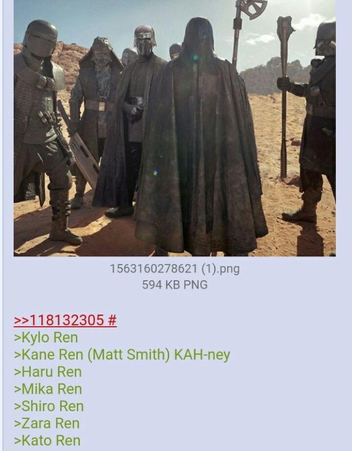 nomi leaked dei cavalieri di ren star wars