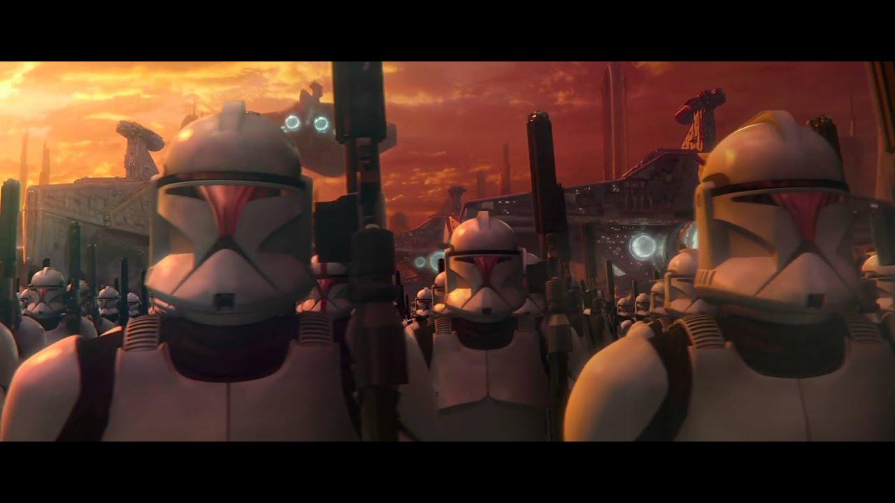 L'esercito dei Cloni alla fine di Episodio II, pedina del piano di Palpatine