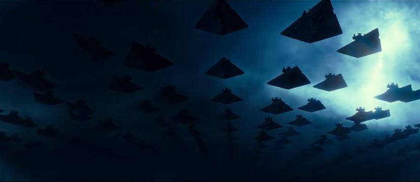 star destroyer imperiali nel trailer di episodio ix