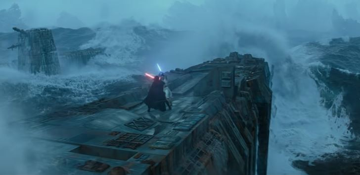 scontro rey kylo ren nel trailer di episodio ix