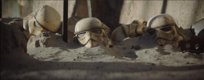 Elmi di stormtrooper nel trailer di The Mandalorian