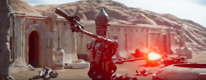 IG-88 in azione in The Mandalorian