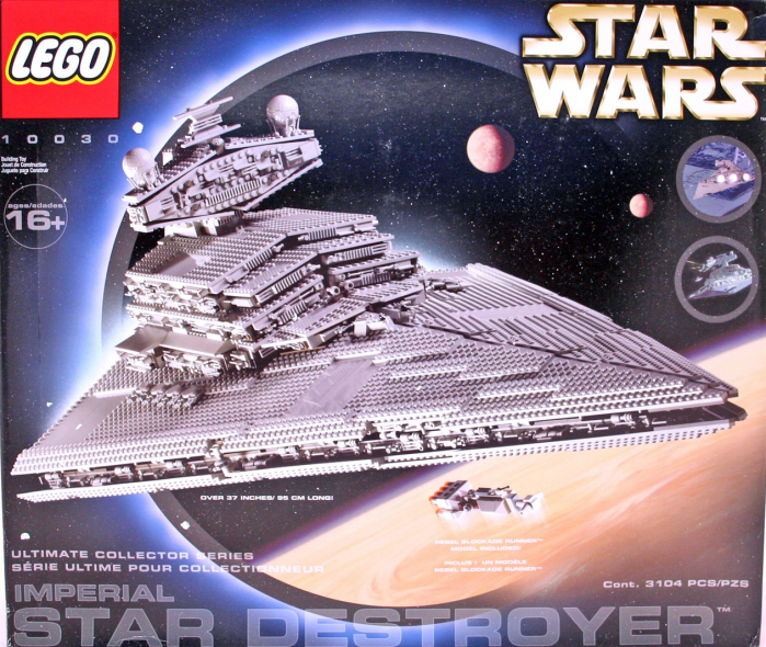 Il vecchio set 10030 Imperial Star Destroyer del 2002