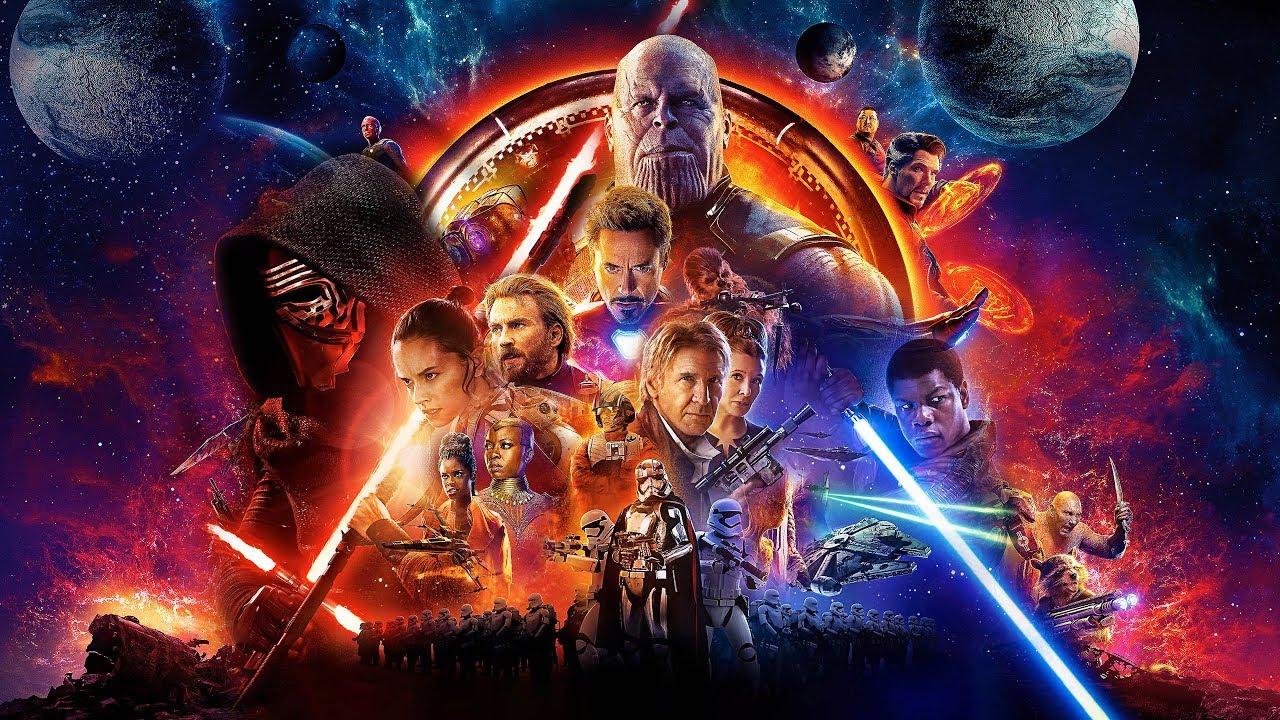 I protagonisti di Endgame e di Star Wars in un unico poster.