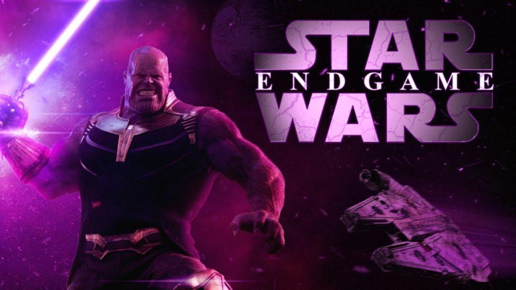 Thanos, villain di Avengers: Endgame, in un mash-up con Star Wars.