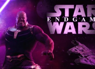 Thanos, villain di Endgame, in un mash-up con Star Wars.