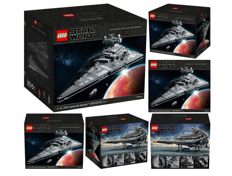 scatola del set lego star wars