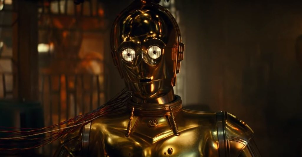 c-3po nel trailer di star wars episodio ix screentime