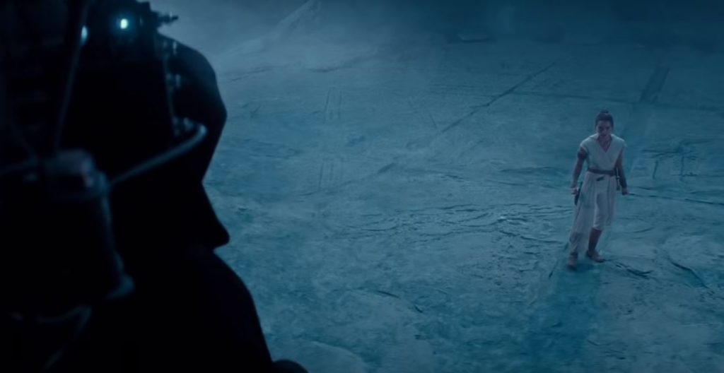 palpatine the rise of skywalker scena finale del trailer di episodio ix