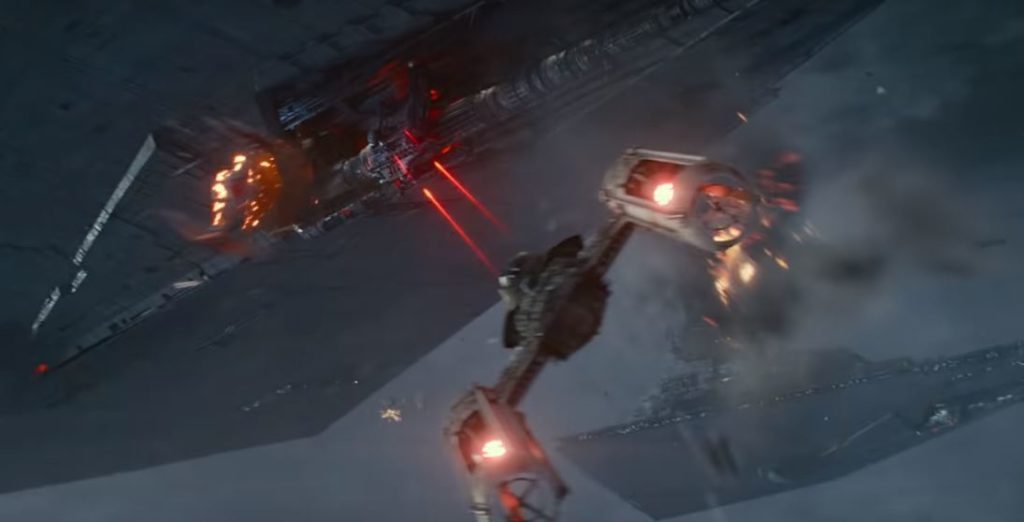 y wing nel trailer di episodio ix