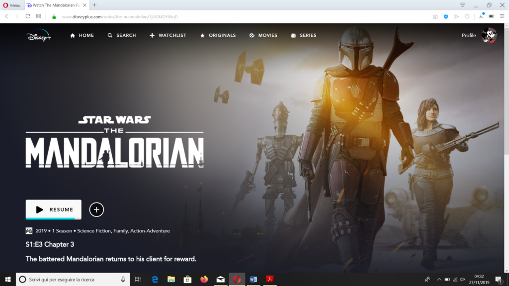 The Mandalorian, serie Disney+