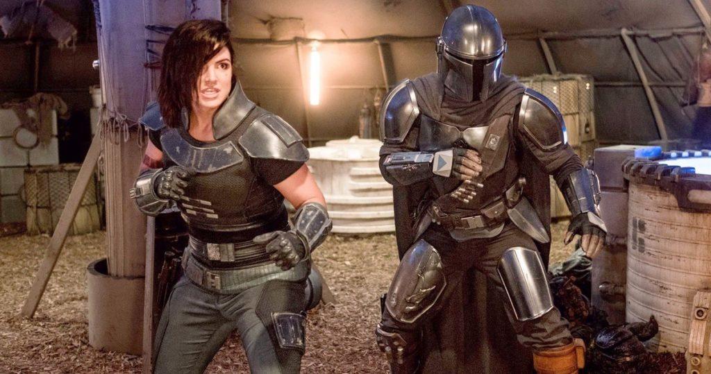 Mando e Cara Dune, protagonisti di The Mandalorian.