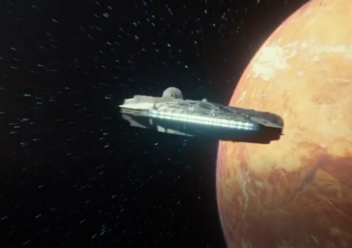 millennium falcon in episodio ix