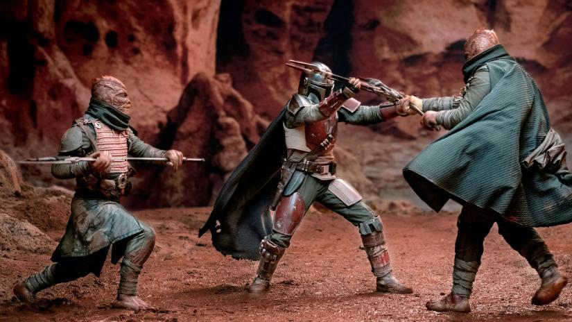 The Mandalorian in azione nella seconda puntata