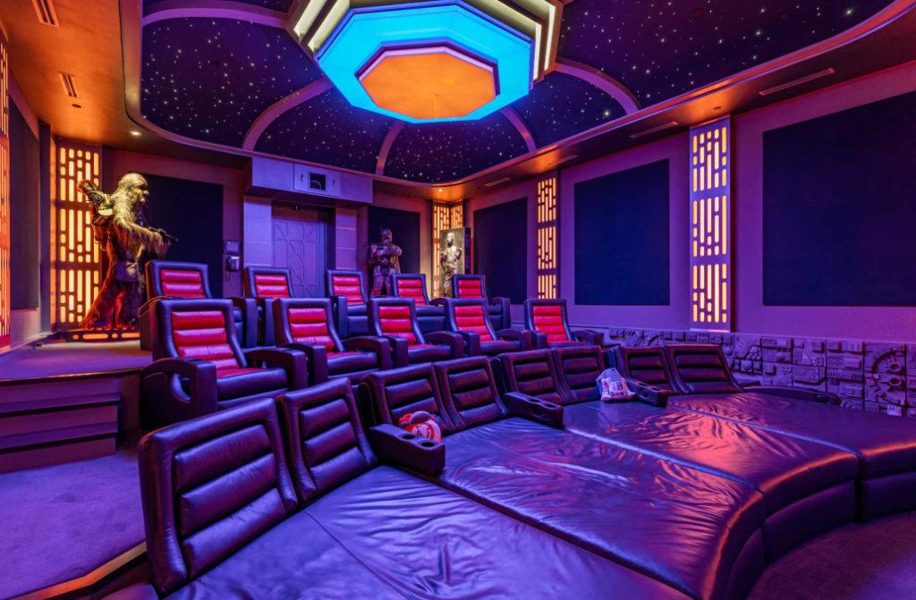 mini cinema nella villa a tema star wars