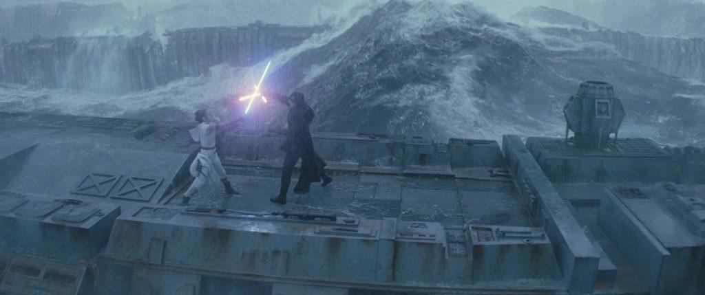 Gli effetti speciali del duello tra Rey e Kylo