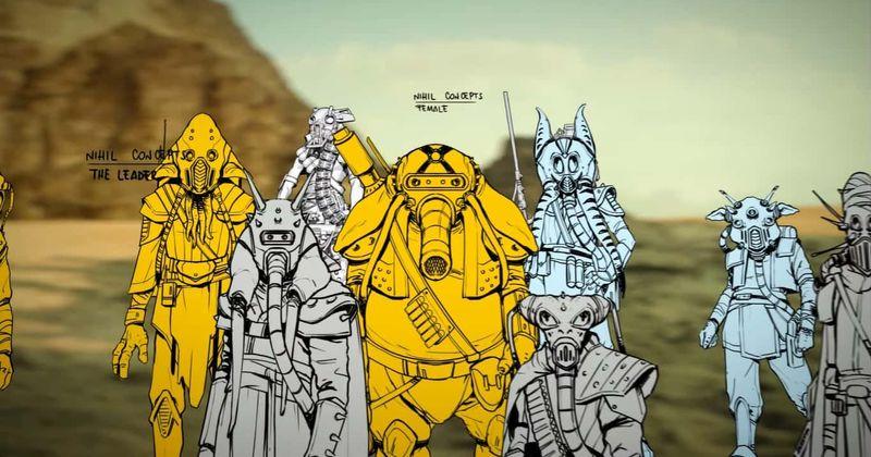 concept art dei nihil di star wars
