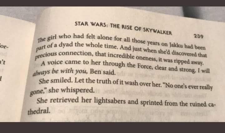ultime parole di ben solo star wars
