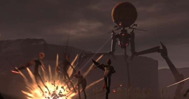 Un fotogramma dall'ultima sequenza della puntata di The Clone Wars, stagione 7 episodio 3