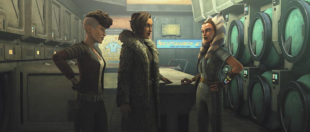 Ahsoka, Trace e Rafa in The Clone Wars