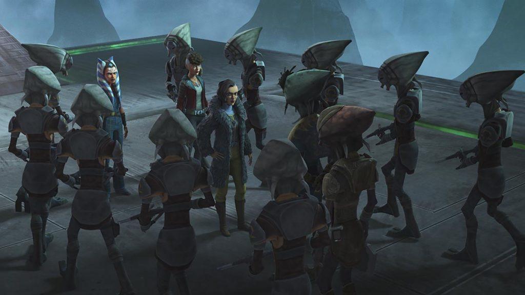 Un'immagine tratta dal sesto episodio della settima stagione di The Clone Wars