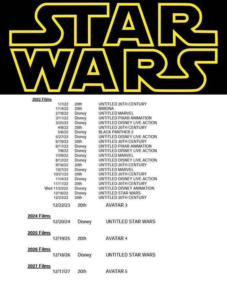 nuovi film di star wars