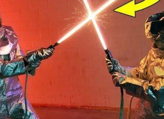 duello con vere spade laser