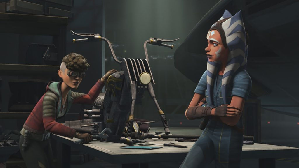 Ahsoka e Trace, protagoniste di The Clone Wars