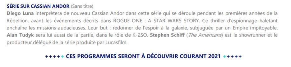 Disney Plus France Cassian Andor